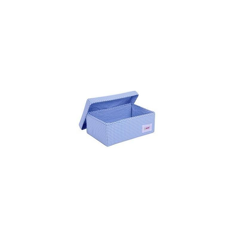 Голяма кутия синьо каре