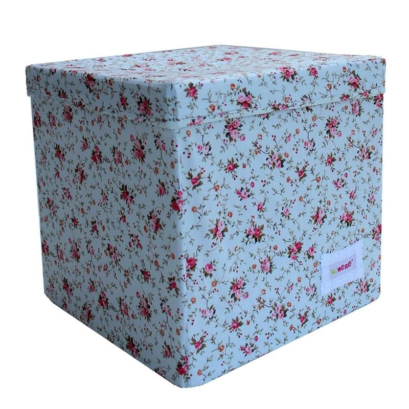 Квадратна кутия Сини цветя