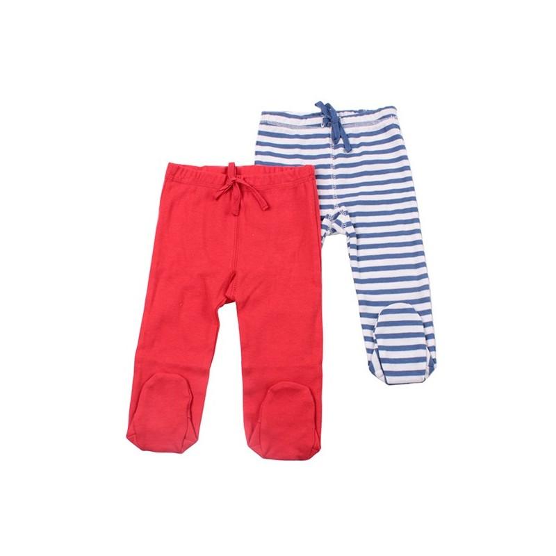 Комплект 2бр панталон Червено и синьо райе
