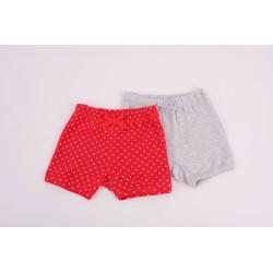 Комплект 2бр панталон Червени точки + Сиво
