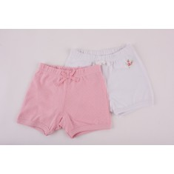 Комплект 2бр панталон Розови точки + Бяло