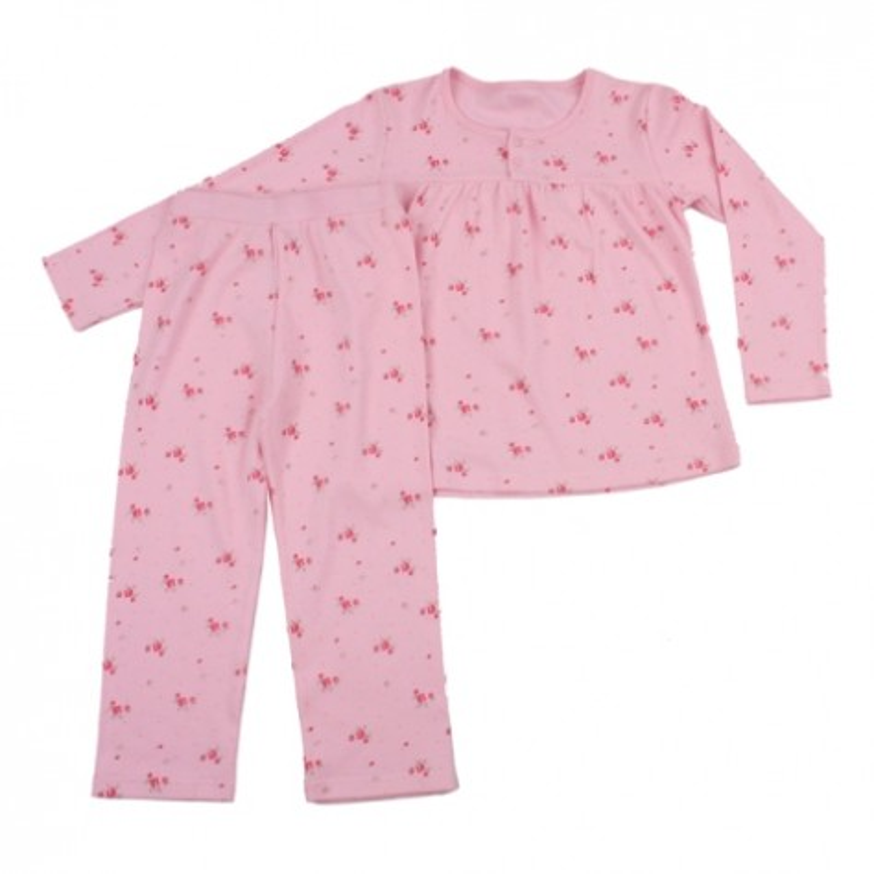 Зимна пижама Цветя