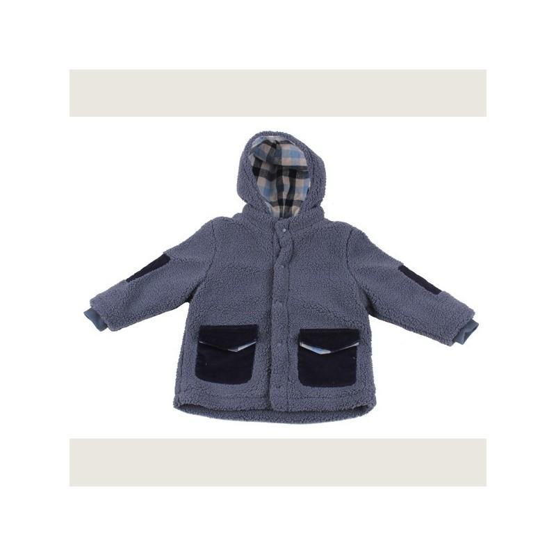 Тъмно синьо палто