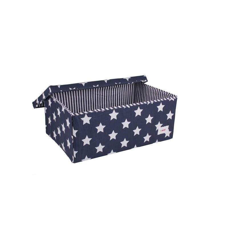 Голяма кутия синьо на звездички