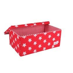 Голяма кутия червено на звездички
