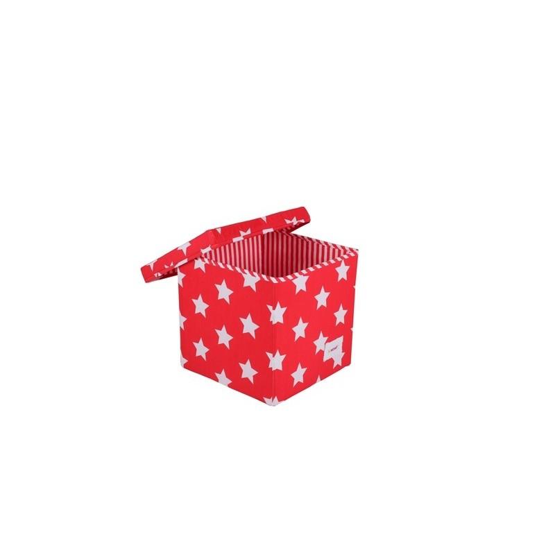Квадратна кутия Червено на звездички