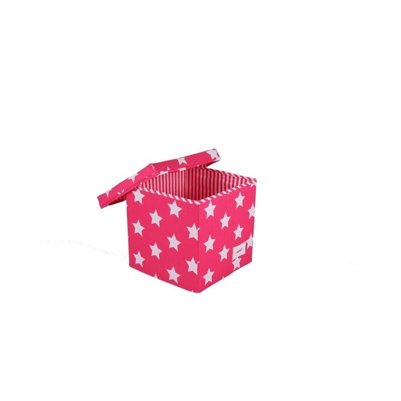 Квадратна кутия Фучия на звездички