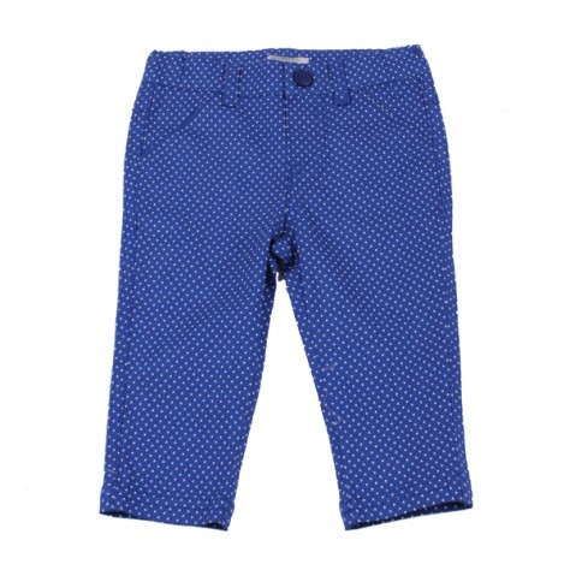 Панталон синьо бели точки