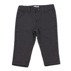 Панталон черно бели точки