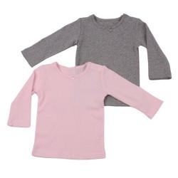 К-кт 2бр Блуза поинтел розово и сиво