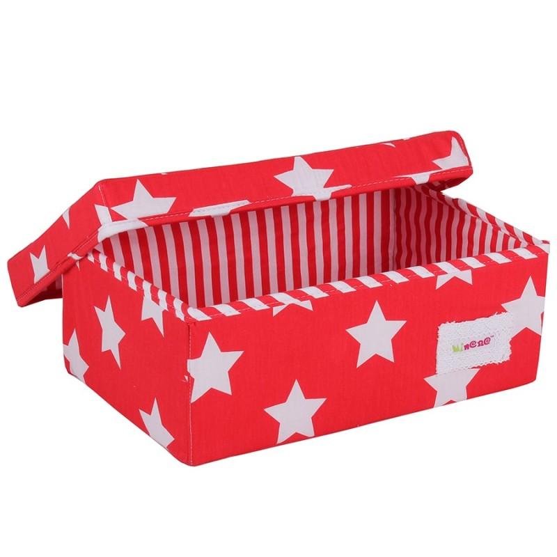 Малка кутия Червено на бели звезди