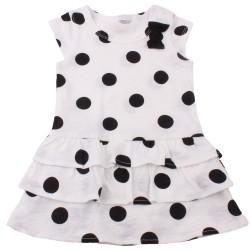 Боди рокля Бяло с черни точки