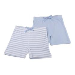 2бр. панталонки св.синьо+синьо райе