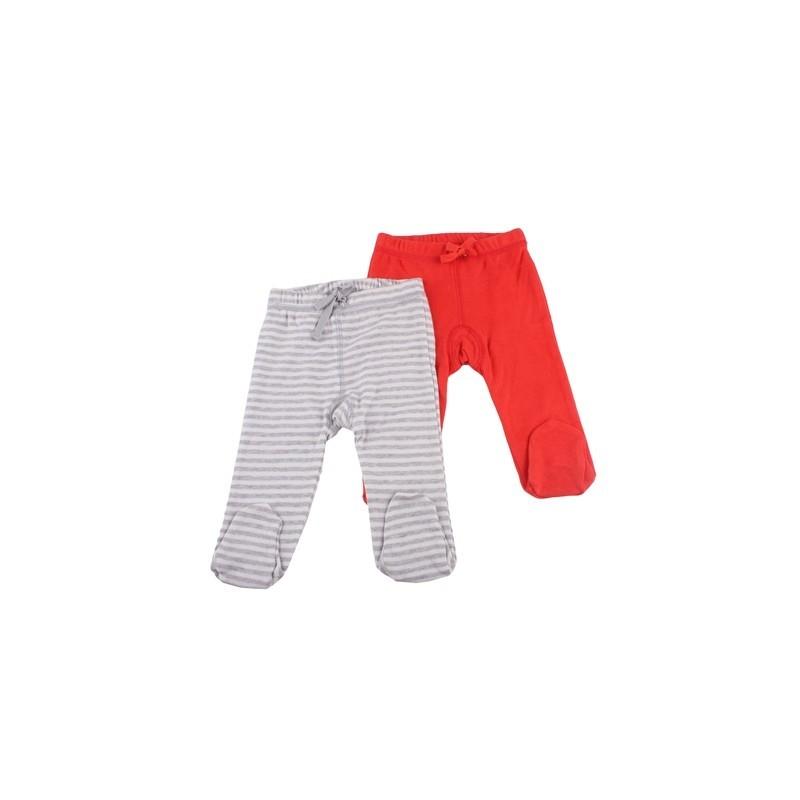2бр. панталонки сиво райе+червено