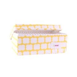 Малка кутия Жълт принт
