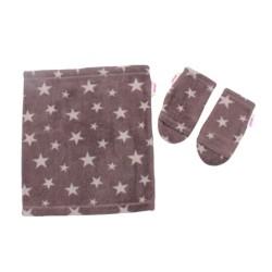 Комплект шал+ръкавици- 4 десена