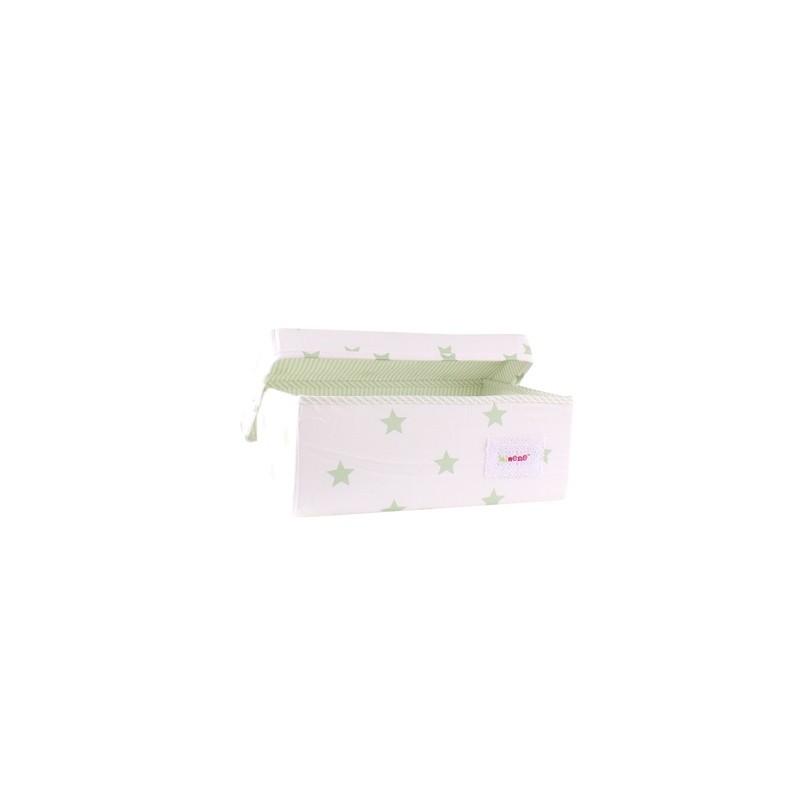 Голяма кутия Крем+зелени звезди