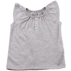 Тениска момиче светлосива
