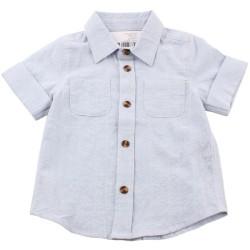 Риза къс ръкав светлосиньо