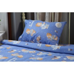 Единичен спален комплект Синьо мече