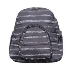 Детска чанта черно и бяло райе