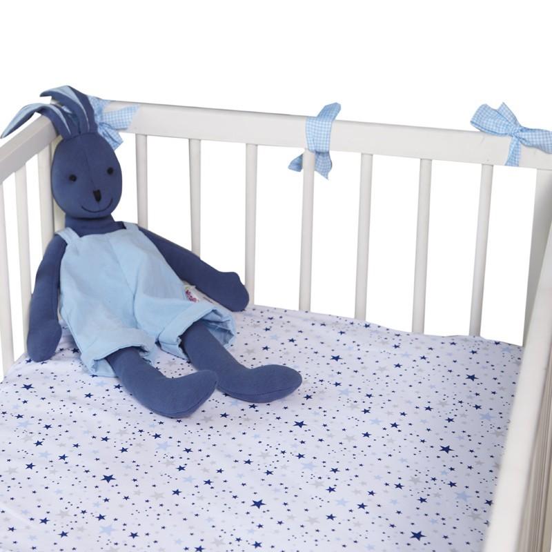 """Чаршаф с ластик """"Сини звезди мулти""""- 2 размера"""