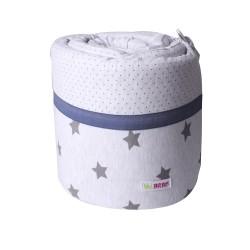 Луксозен спален комплект за люлка Сиво+звезди