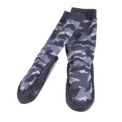 Пантофи с чорап камуфлаж