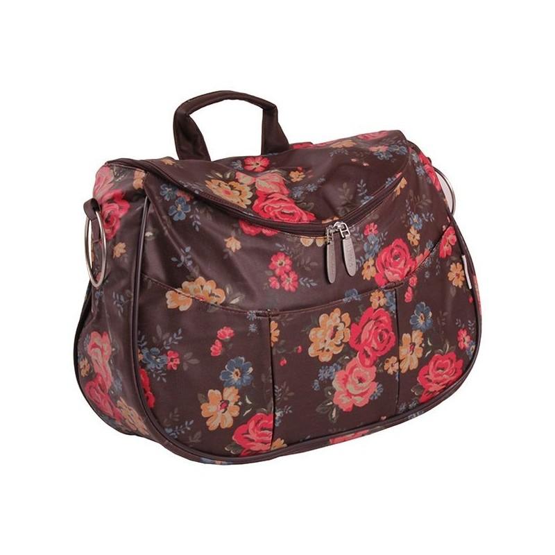 Невероятна Лайла чанта кафяви цветя