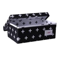 Голяма кутия Х черно и бяло