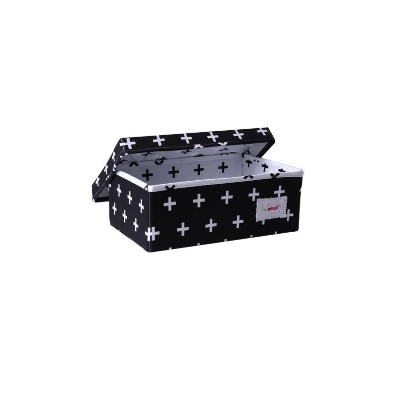Малка кутия Х черно и бяло