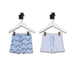 2бр. панталонки Сини вълни+райе