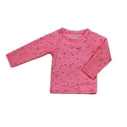Бански блуза за момиче Розов принт