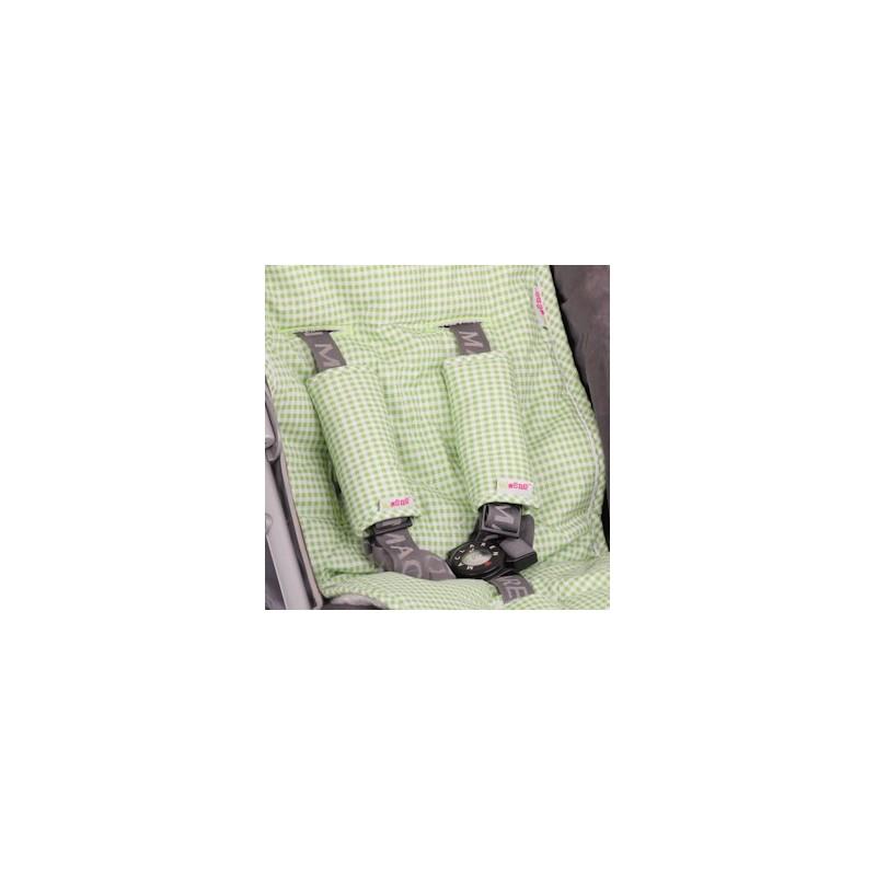 Облегалка за количка с протектори зелено каре