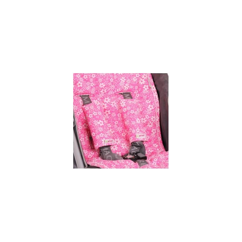 Протектори за колани розово с бели цветя