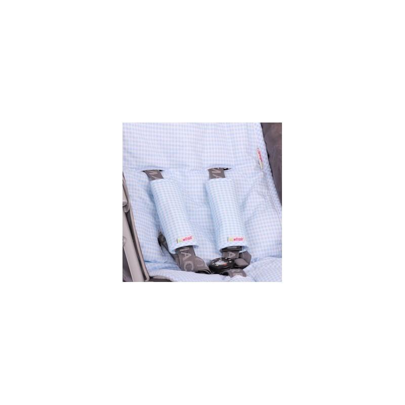 Протектори за колани синьо каре