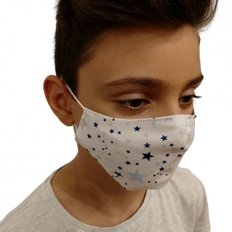 Текстилна маска сини звезди