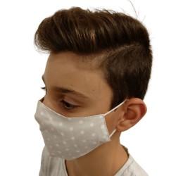 Текстилна маска сиви точки