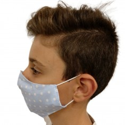 Текстилна маска сини точки